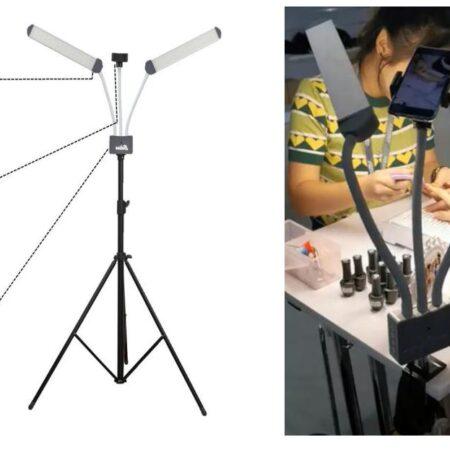 LED-Lampa med stativ