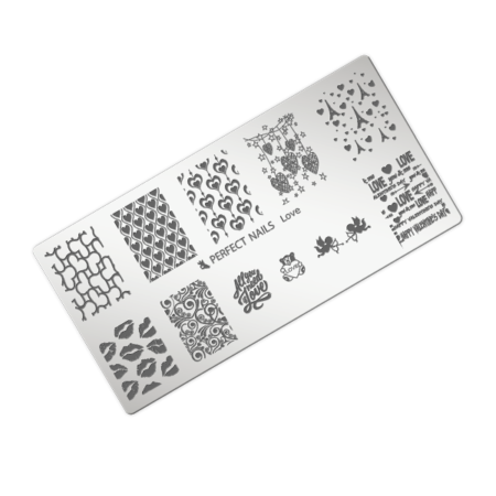 Stamping Plate Love Perfect Nails