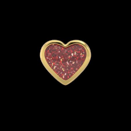 Örhänge - Hjärta 6mm