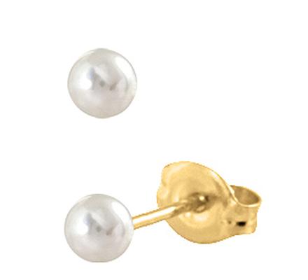 S676STX Örhänge - Vit pärla 6mm