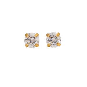 Örhänge - Cubic Zirconia guld 3mm